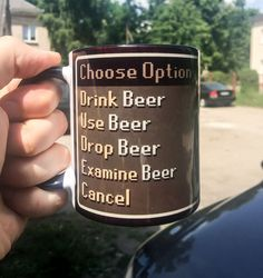RS Mug Cup of Beer funny item Runescape MMO Gaming by ItemHomeMade