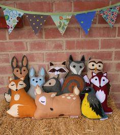 Savage Seeds felt woodland animal toys/cushions