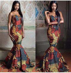 Évasée imprimé robe africaine imprimer robe Ankara Print Dress