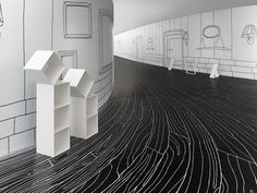 Thin Black Lines + Dancing Squares by nendo