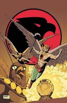Hawkman & Hawkgirl by Michael LarkHawkgirl - AKA Shiera Sanders Hall ®... #{T.R.L.}