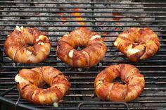 Bacon-wrapped Pineapple Mozzarella Rings (a.k.a. Bacon Donuts)