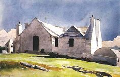 Winslow Homer. Bermuda 1901. Watercolor and graphite on paper. 14 x 21 inches