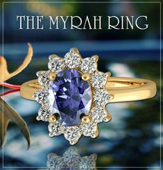 Exclusive The Myrah Ring Collection, a wide range of gold, and diamond ring the latest collection for Women. The Best Online Jewelry Store For Buying Ring At Affordable Price. Sapphire Gemstone, Sapphire Diamond, Halo Diamond, Best Online Jewelry Store, Jewelry Stores, Buy Rings, Rings Online, Yellow Gold Rings, Gemstone Jewelry