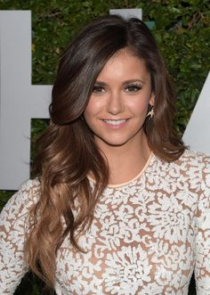 Take brown-blond ombré into Fall by transforming it into a more subtle sombré style like Nina's.