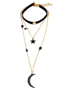 58 best zaful images pu leather shopping ornament  moon and star pendant chokers