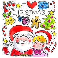 Kerstman omhelzing - Greetz