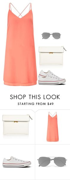 """""""Summer"""" by nadiaamrc ❤ liked on Polyvore featuring Marni, Miss Selfridge, Converse and Yves Saint Laurent"""