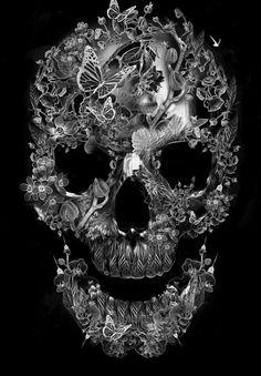 Fantasmagorik Botanical Skull  Obery Nicolas.