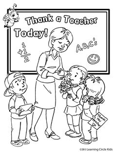 Free Kids coloring page for Teacher Appreciation Day!  http://readerbee.com