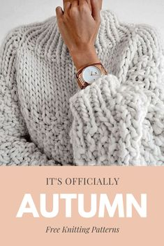 Free knitting patterns that are perfect for autumn. Take a look at hat patterns,… Free knitting patterns that are perfect for autumn. Take a look at hat patterns,…,Knitting Patterns Free knitting patterns that are. Fall Knitting Patterns, Knitting For Kids, Knitting For Beginners, Hat Patterns, Knitting Tutorials, Knitting Ideas, Jumper Knitting Pattern, Diy Knitting Clothes, Knit Sweater Patterns