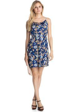Glänzendes Blüten-Print-Kleid aus Satin