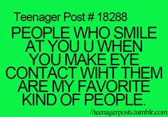 Yes, I love those people! You don't feel awkward if you just happened to be looking at them when you zone out