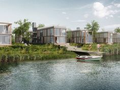 CHYBIK+KRISTOF Associated Architects won an international architectural and urbanistic competition on 33 apartment buildings close to Bratislava. The project aims to create quality housing with direct contact with water surface. It also sets a considerable part of the house into the riparian forest in the river-bed of the Danube.