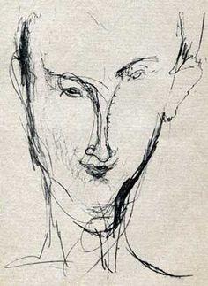 Hans (Jean) Arp by Modigliani