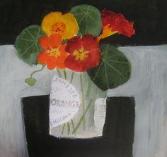 Jill Leman-still life paintings-flowers-toys-birds watercolour-acrylics