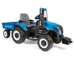 limited edition Peg Perego 12v NEW HOLLAND T8 Sit on Battery Powered Tractor & Trailer