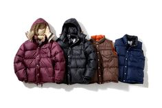 Head Porter Plus x Crescent Down Works Outerwear Collection. the 2 on the left, but i dont like the color of the first one