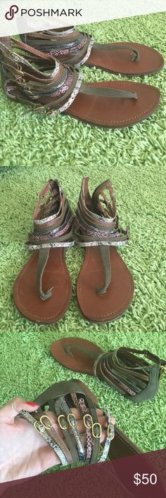 Steve Madden Sandals Steve Madden Sandals. Only been worn a handful of times. Great condition. Zipper on back and all straps are adjustable. Steve Madden Shoes Sandals