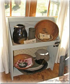 bucket bench  Dining Room  A Primitive Place ~ Tammy
