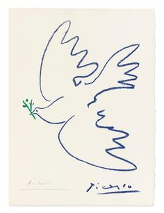 View details of Pablo Picasso Dove of Peace (Colombe de la paix ), an original, hand-signed Picasso lithograph. See purchasing info. Pablo Picasso Drawings, Kunst Picasso, Art Picasso, Picasso Paintings, Picasso Tattoo, Matisse Tattoo, Picasso Prints, Picasso Dove Of Peace, Peace Dove