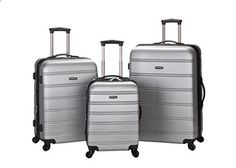 Rockland Luggage Melbourne 3 Piece Abs Luggage Set Silver Medium Rockland Luggage Melbourne Silver Medium is ranked high among the top selling products in Luggage category in USA. Click below to see its Availability and Price in YOUR country.