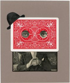 Poker Face, 2011.  Collage by Angelica Paez