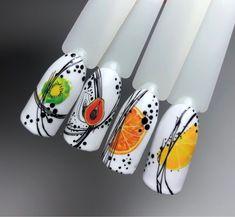 Fruit Nail Designs, Nail Art Designs, Chic Nails, Xmas Nails, Nail Decorations, Nailart, Arabesque, Summer Nails, Creativity