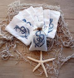 Nautical Theme Wedding Favor BagsBridal Shower by Ruedelamour, $25.00