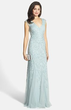 Pale blue beaded gown for the Mother of the Bride   Dress for the Wedding