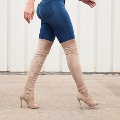 Can't go wrong with over the knee boots!