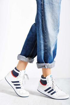 best sneakers 8a78f e4651 adidas Originals Retro Top Ten High-Top Sneaker Adidas Retro, Blue Adidas,  Retro