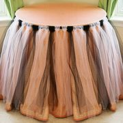 DIY Tulle Table Skirt | eHow