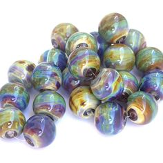 "Sarah Hornik - ""Planetary"" Lampwork Glass Bead Set (I LOVE LOVE LOVE these!)"