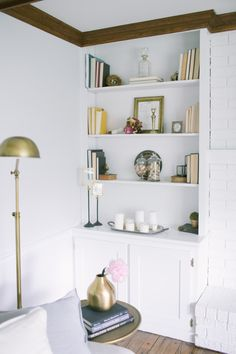 Built in storage: http://www.stylemepretty.com/living/2015/03/27/chic-design-tricks-for-tiny-spaces/