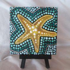 Starfish painting Kitchen ArtDot paintingAcrylic by LindaSpangArt