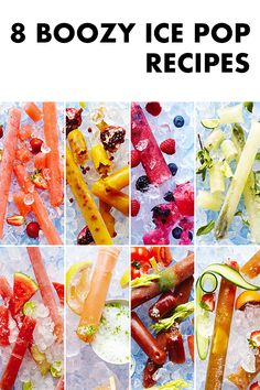 For Adults Only! These freeze pops are for adults only! They're all inspired by classic cocktails. Everything from Bloody Mary to Mojito to Paloma! My current favorite is Pimm's Cup! Ice Pop Recipes, Alcohol Drink Recipes, Popsicle Recipes, Fireball Recipes, Punch Recipes, Frozen Drinks, Frozen Desserts, Frozen Treats, Summer Drinks