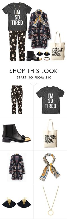 """So tired"" by perpetto ❤ liked on Polyvore featuring Dorothy Perkins, Marni, Dogeared, WithChic, Charly James, Louise et Cie and Hermès"