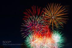 Space Flowers 6 - Pinned by Mak Khalaf Fine Art cityfireworksfrankfurtlightlightsnight by corto1887