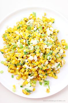 Must use Old 99 Cajun spice rather than chili powder though. All of the flavor of Elote in a delicious and easy Mexican Street Corn Salad! This is sure to become a favorite side dish with any Mexican meal! Great for summer fresh corn! Fruit Salad Recipes, Mexican Food Recipes, Mexican Meals, Mexican Cooking, Mexican Dishes, Vegetable Salad, Vegetable Dishes, Side Dish Recipes, Side Dishes