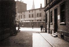 Widok z ulicy Murarskiej na Stary Browar Miejski. Rok 1936.