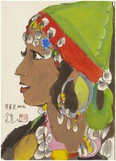 (Korea) Moroccan Woman by Chun Kyung-ja (1924- 2015).