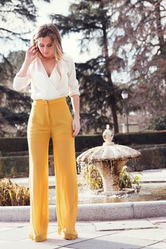 Ideas Wedding Guest Outfit Summer Pants Style For - Wedding Outfit Fashion Pants, Look Fashion, Fashion Outfits, Ladies Fashion, Fashion Ideas, Dress Fashion, Formal Fashion, Womens Fashion, Woman Outfits