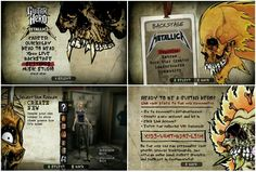 Guitar Hero Metallica Menus