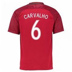 Portugal 2016 Carvalho 6 Hjemmedrakt Kortermet.  http://www.fotballpanett.com/portugal-2016-carvalho-6-hjemmedrakt-kortermet.  #fotballdrakter