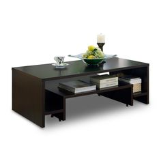 enitial lab melrose extendable coffee table, espressoenitial