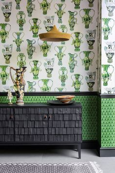 Khulu Vases Wallpaper by Cole   Son - Ardmore Collection 0fbda582be