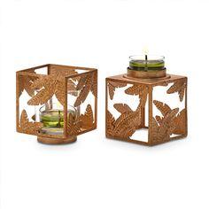 Duftwachsglas-Halter Golden Cube