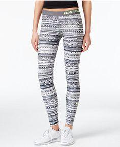 Nike Pro Hyperwarm Printed Dri-FIT Leggings - Nike - Women - Macy's