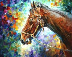 HORSE 2 - Palette knife Oil Painting  on Canvas by Leonid Afremov - http://afremov.com/HORSE-2-Palette-knife-Oil-Painting-on-Canvas-by-Leonid-Afremov-Size-24-x30.html?utm_source=s-pinterest&utm_medium=/afremov_usa&utm_campaign=ADD-YOUR